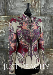 Cranberry Slate Grey And Silver Showmanship Outfit By Paulas Place ~ Ladies Xs Western