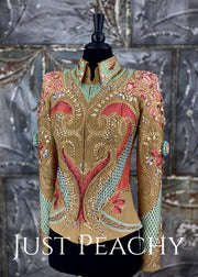 Sand, Mint and Coral Showmanship Outfit by Paula's Place ~ Ladies XS