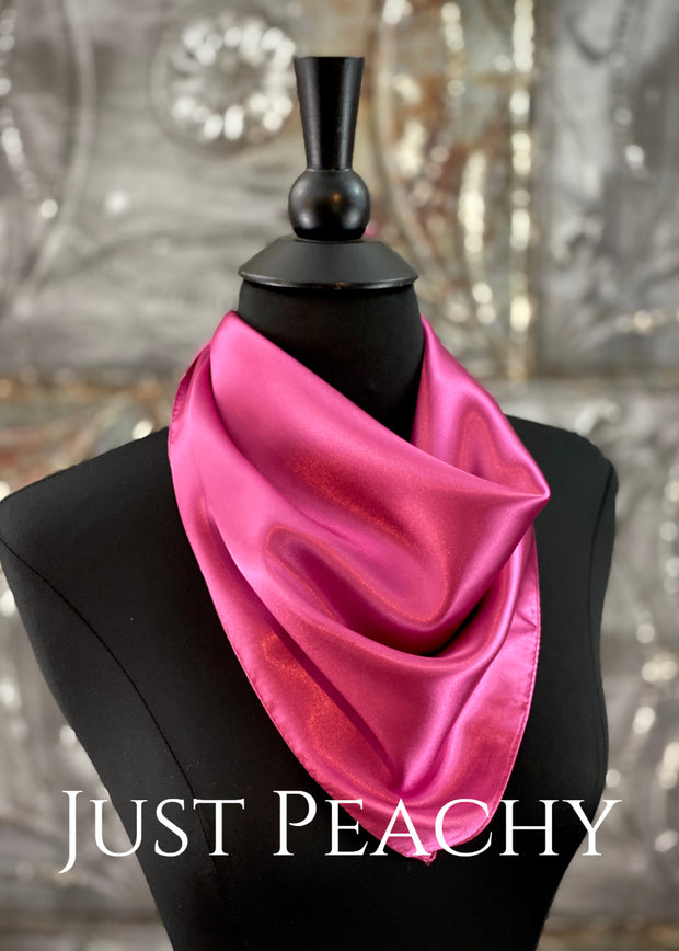 The Just Peachy Silky Solid Show Scarf ~ 23 Inch {Magenta}