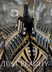 Blue, Gold and Black Showmanship/All-Day Jacket by Stella