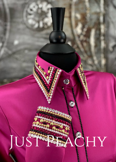 The La Merletto Day Shirt in Pink Raspberry by Sonder Avenue ~ Ladies XS