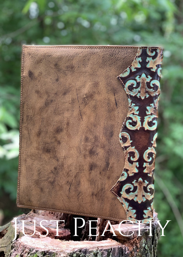 Custom Leather Planner Cover By Crooked Horn
