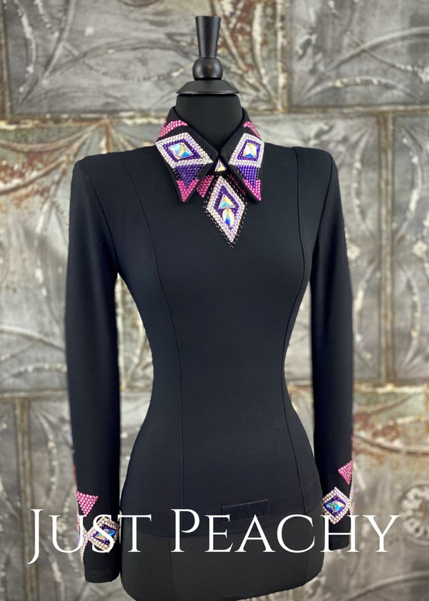 Purple and Raspberry Bolero Vest and Shirt Set by DarDar8 Designs ~ Ladies XS