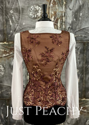 Chocolate Brown Horse Show Vest ~ Just Peachy Show Clothing