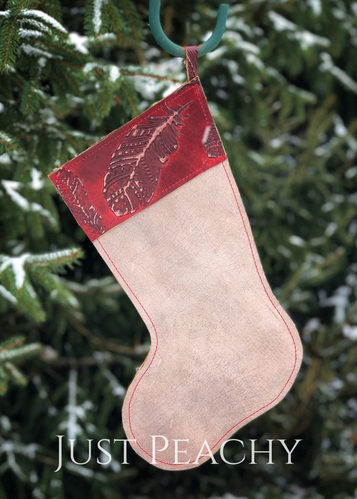 Cowhide And Leather Christmas Stocking