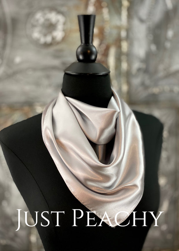 The Just Peachy Silky Solid Show Scarf ~ 23 Inch {Gray}