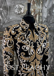 Sand, White and Black Showmanship Jacket by Lindsey James ~ Ladies XS