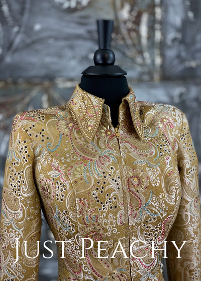 Paula's Place brocade weekend jacket ~ Just Peachy Show Clothing