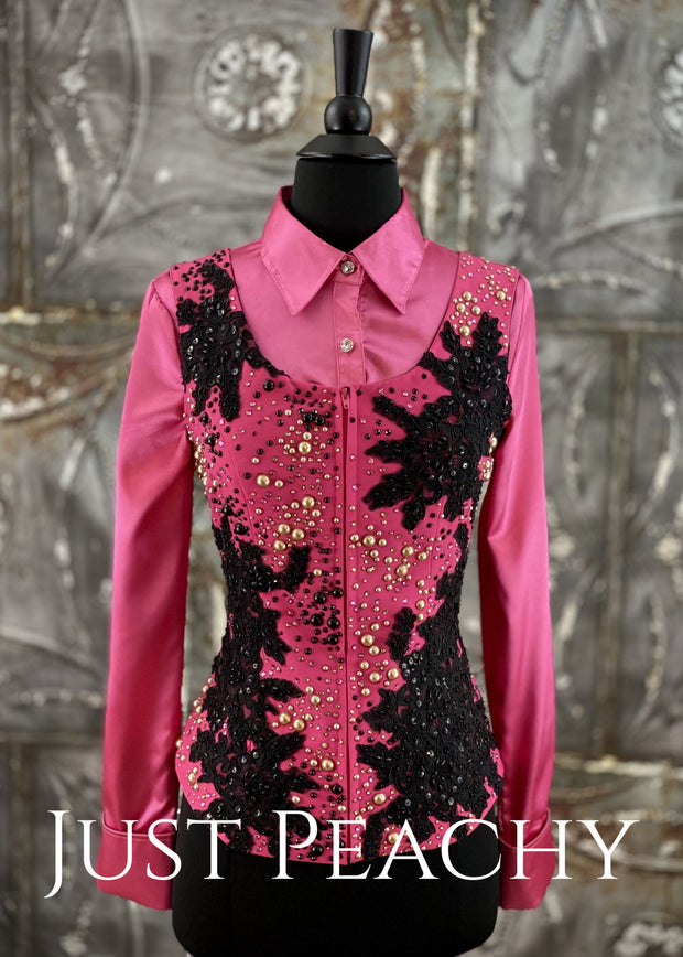 Gold Black And Fucshia Vest By KLS Designs - Just Peachy Show Clothing