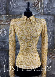 Sand and Gold Horsemanship/Day Shirt by Paula's Place ~ Ladies XS