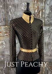 Black and Metallic Gold Jacket by Connie's ~ Ladies XS/Youth XL