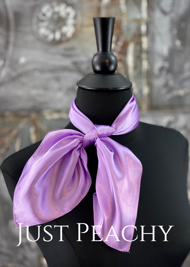 The Just Peachy Silky Solid Show Scarf ~ 23 Inch {Lavender}