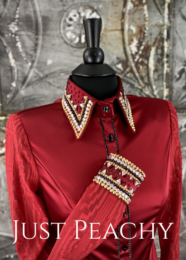The La Merletto Day Shirt in Chili Pepper Red by Sonder Avenue ~ Ladies XS/Small