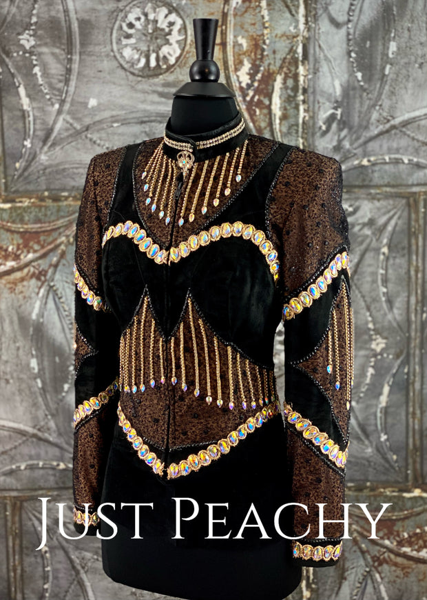 Black, Brown and Gold Jacket by Paula's Place ~ Ladies XS
