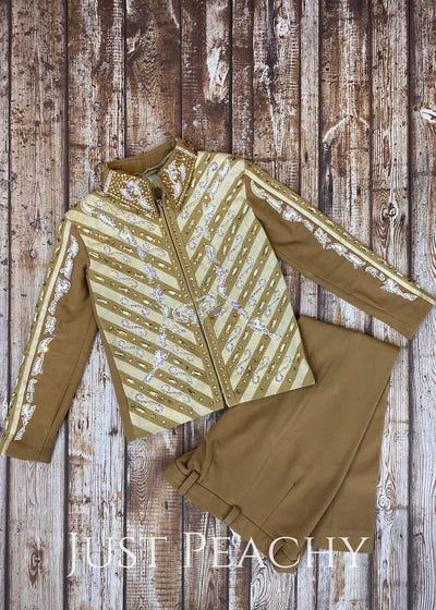 Sand And Ivory Showmanship Outfit By Show Grace ~ Youth Medium Western