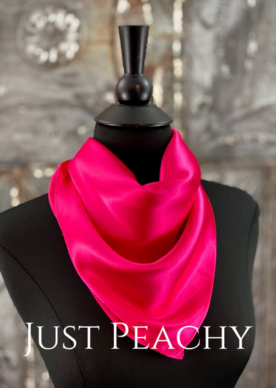 The Just Peachy Silky Solid Show Scarf ~ 23 Inch {Hot Pink}