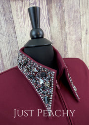 The Simply Perfect Horse Show Shirt In Chianti With Jet Hematite By Deb Moyer ~ Ladies Medium