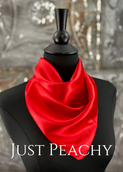 The Just Peachy Silky Solid Show Scarf ~ 23 Inch {Red}