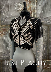 Silver and Black Bolero Vest and Horsemanship Set by Lindsey James ~ Ladies XS/Small