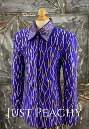 Royal Purple Crystal Youth Showmanship Outfit ~ Youth Large/XL