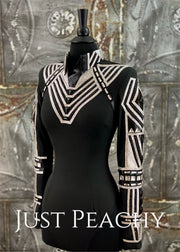 Black and Silver Horsemanship Shirt by Holly Taylor ~ Ladies XS/Small