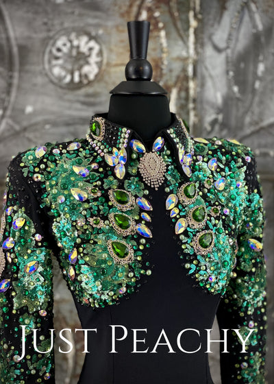 Emerald Green Horsemanship Shirt by Trudy ~ Just Peachy Show Clothing