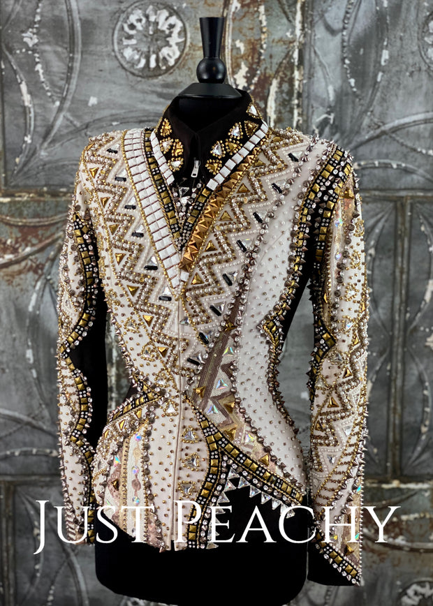 Black, White and Gold Jacket by Showtime ~ Ladies Small