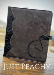Custom 1 Three Ring Leather Binder By Crooked Horn 3-Ring