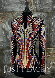 Garnet, Gold and Black Jacket By Stella ~ Just Peachy Show Clothing