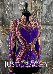 Royal Purple, Fuchsia and Gold Showmanship Outfit by April Salisbury ~ Ladies XS/Youth XL TALL