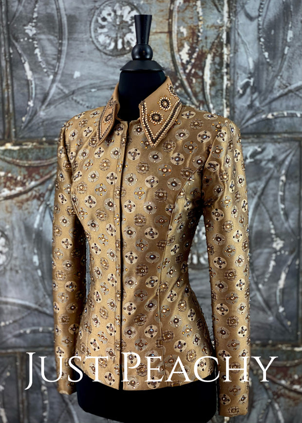 Taupe Brocade Showmanship Outfit by Show Grace ~ Youth XL/Ladies XS