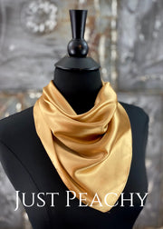 The Just Peachy Silky Solid Show Scarf ~ 23 Inch {Gold}