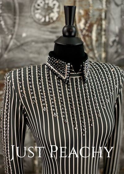 Charcoal Pinstripe Horsemanship Shirt by Holly Taylor ~ Ladies XS
