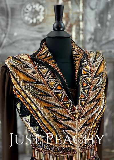 Gold, Chocolate and Black Vest Set by Showtime ~ Ladies Small