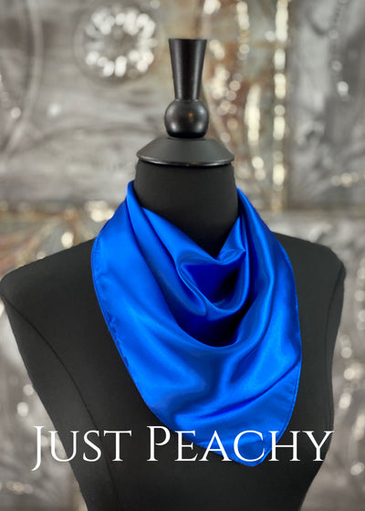 The Just Peachy Silky Solid Show Scarf ~ 23 Inch {Royal Blue}