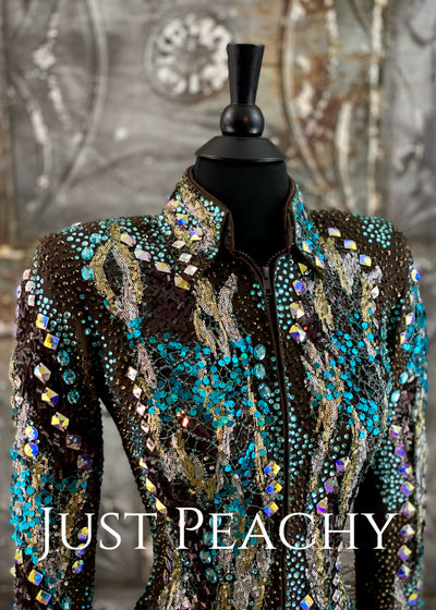 Chocolate and Turquoise Showmanship Outfit by Lindsey James ~ Ladies XS