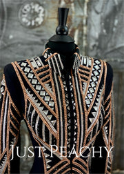 Rose Gold, Silver and Black Showmanship Jacket by Holly Taylor ~ Ladies Small