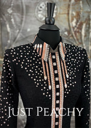 Blush, Silver and Black Bolero Vest by Stella ~ Ladies Small
