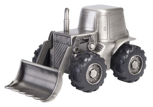 Money Box Pewter Tractor