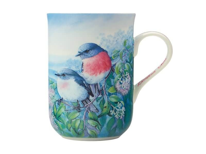 Birds of Australia KC 10yr Anniversary Mug 300ML Rose Robin