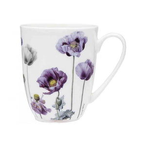 Mug Purple Poppies Coupe