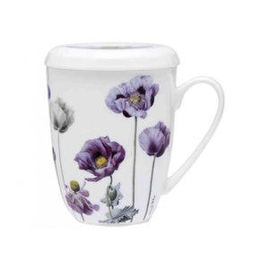 Mug Infuser Purple Poppies