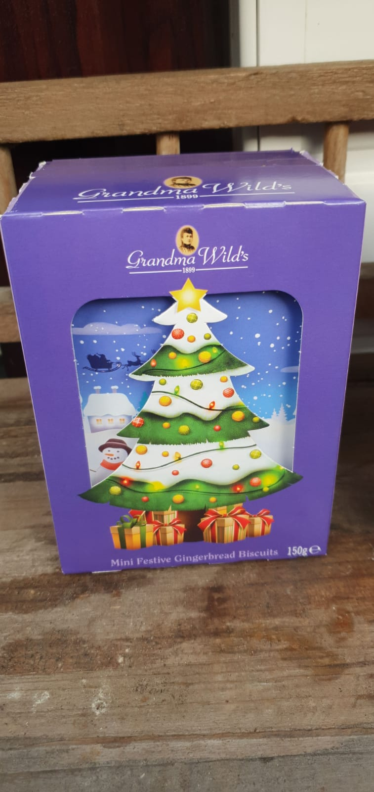 Christmas Food Gift - Christmas Tree Box With Biscuits