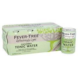 Fever-Tree Refreshingly Light Cucumber Tonic Water Cans - 8 x 150ml