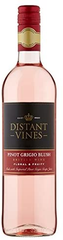 Off Licence Distant Vines Pinot Grigio Blush - British Rose Wine 75CL