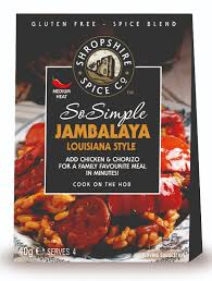 Shropshire Spice Gluten Free - So Simple Jambalaya Louisiana Style- 40g