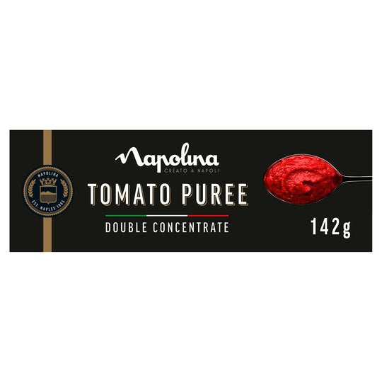 Napolina Tomato Puree Tube -Double Concentrate Tomato Puree -  142g