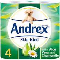 Andrex - Toilet Roll -  Pack Of 4 - Assorted