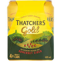 Off Licence - Thatchers Gold Cider 4X500ml Cans