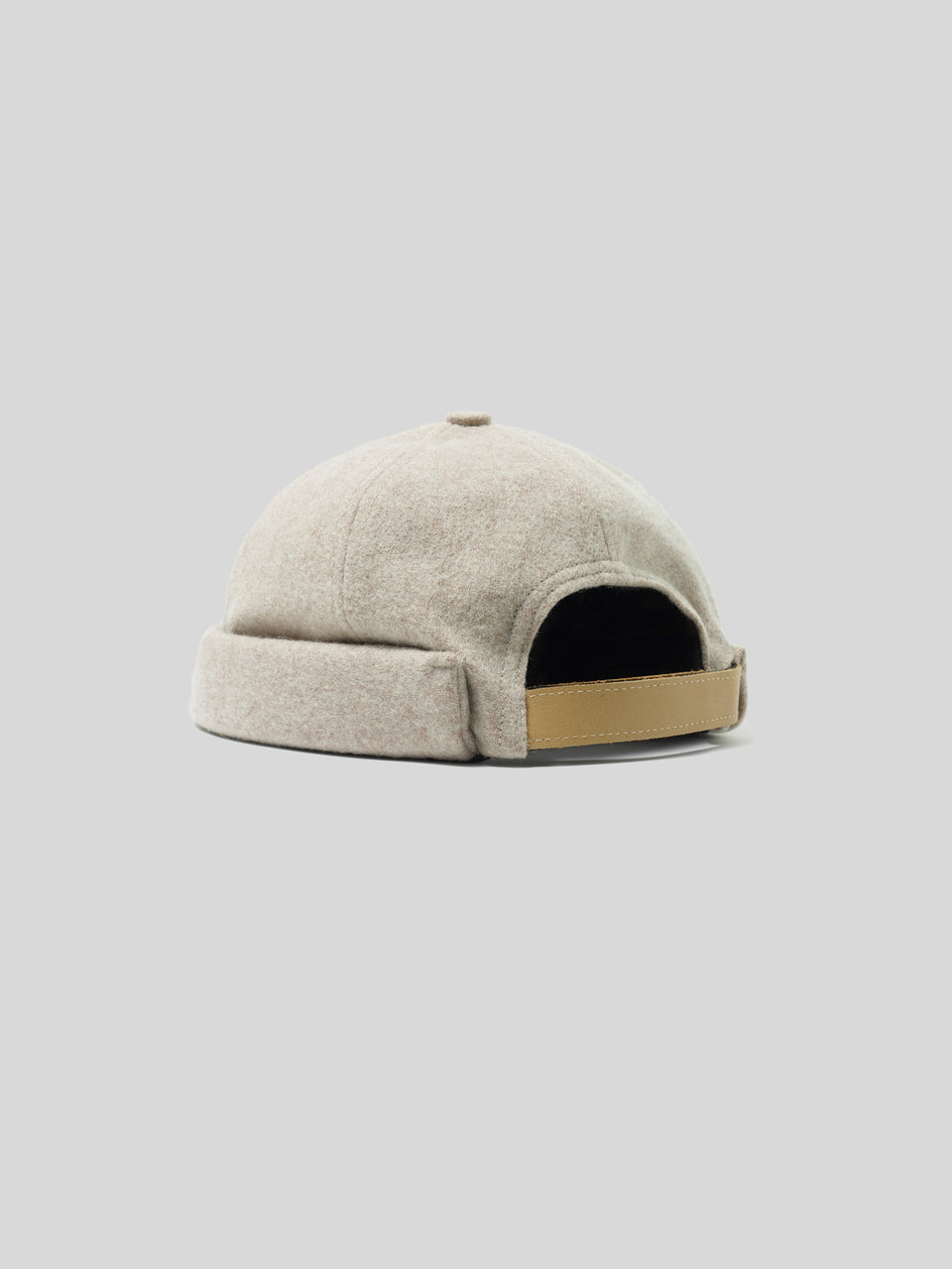 Brimless Virgin Wool Hat Husky Grey